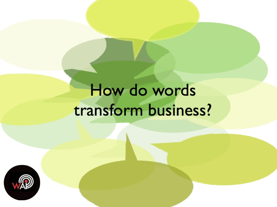 Words as a business