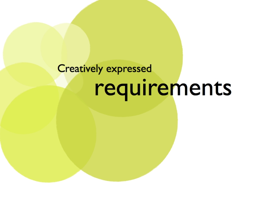 Creatively expressed requirements